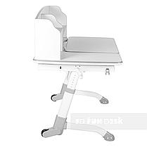 Комплект подростковая парта для школы Amare II Grey + ортопедическое кресло Contento Grey FunDesk , фото 2