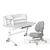 Комплект подростковая парта для школы Amare II Grey + ортопедическое кресло Contento Grey FunDesk