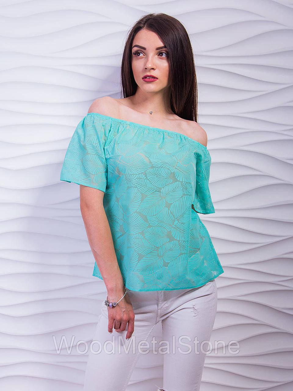 8c520fb71b3 Женская Воздушная блуза с открытыми плечами 42-48
