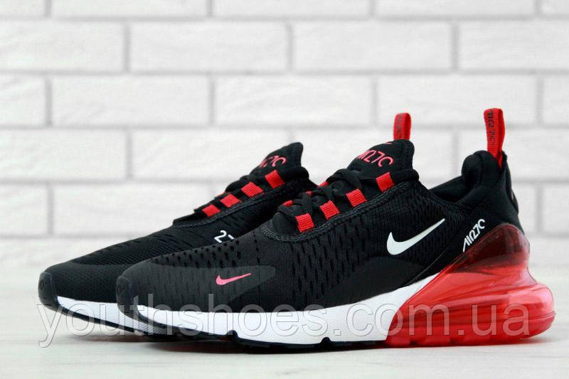 """Кроссовки мужские Nike Air Max 270 Black/Red """"Черные с красным"""" найк аир макс р.41-45, фото 1"""