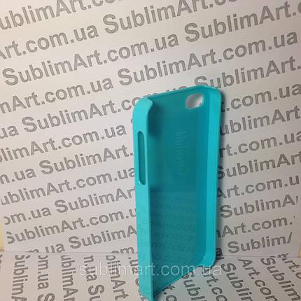 Чехол для 2D сублимации пластиковый Iphone 4/4S голубой, фото 2