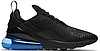 "Кроссовки мужские Nike Air Max 270 Black/Blue ""Черные с синим"" найк аир макс р.41-44"