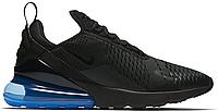 """Кроссовки мужские Nike Air Max 270 Black/Blue """"Черные с синим"""" найк аир макс р.41-44, фото 1"""