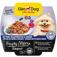 Рагу для собак GimDog (ДжимДог) Gimborn Fruity Menu консерва (говядина,лесные ягоды и овощи), 100 г