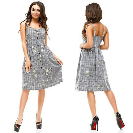Льняное платье с вышивками, фото 2