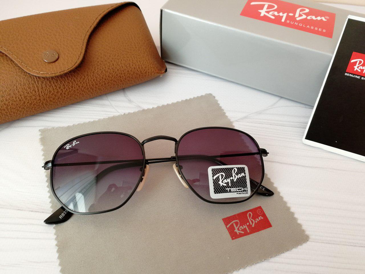 Солнцезащитные очки Ray Ban Рэй Бэн гексагональные (реплика)