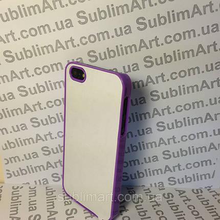 Чехол для 2D сублимации пластиковый Iphone 4/4S фиолетовый , фото 2