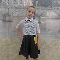 Дитячий шкільний сарафан-двійка, фото 1