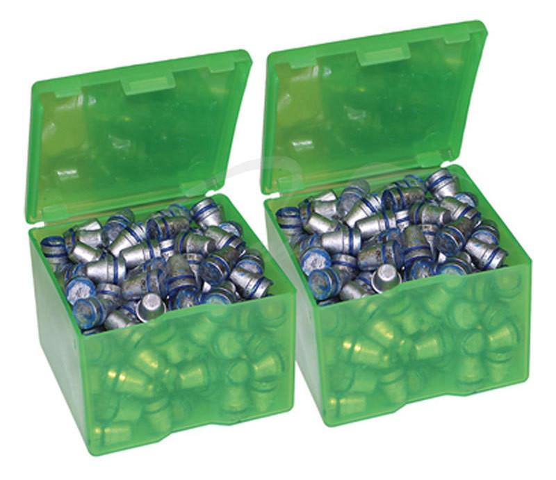 """Коробка MTM из двух коробок для пуль 3.4"""" x 3.4"""" x 2.5"""" ц:зеленый"""