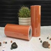 Лента фатиновая премиум 15 см морковная