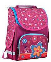 Яркий школьный рюкзак Smart PG-11 Flowers red  для девочек, фото 1
