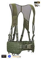 """Полевая разгрузочная система M.U.B.S. """"BFBS-M"""" (BattleField Belt with Mesh QL Suspenders) - Camo Green"""