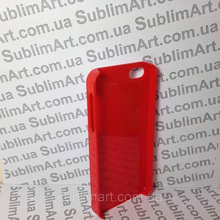 Чехол для 2D сублимации пластиковый Iphone 4/4S красный, фото 2