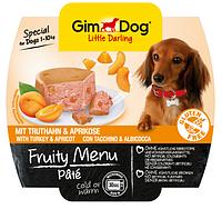Паштет для собак GimDog (ДжимДог) Gimborn LD Fruity Menu с индейкой и абрикосом, 100 г