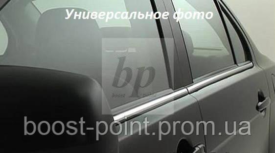 Молдинг стекла (стекольный хром) Kia Sportage III SL (киа спортаж/спортейдж 2010-2015)