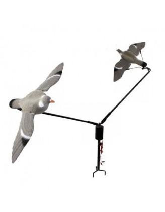 Уст-во карусельного типа Hunting Birdland на 2 приманки-голубя, комплект: батареи, кабель 15 метров, 5-ти скор