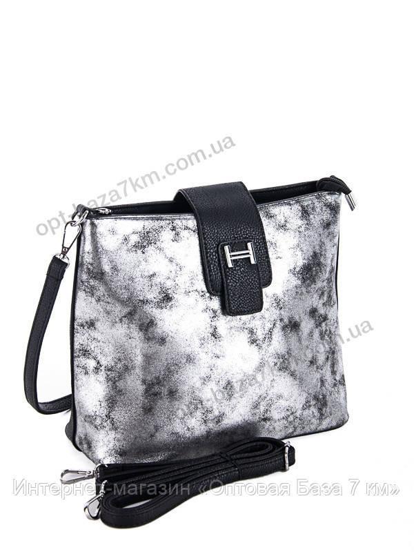ae90fc5220b8 Сумка женская Lucky bags SF6337-PZ black-silver (22x25) - купить оптом