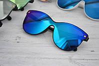 Солнцезащитные женские очки кошачий глаз крупные №1