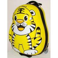 """Детский пластиковый чемодан на колесах """"Тигр"""" 49*37*26 см"""