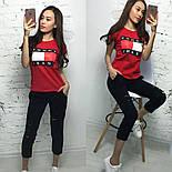 Женский стильный костюм: футболка и укороченные брюки/капри (7 цветов), фото 2