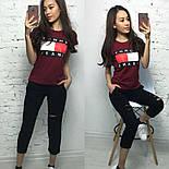 Женский стильный костюм: футболка и укороченные брюки/капри (7 цветов), фото 4