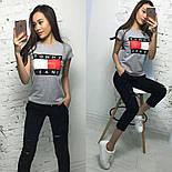 Женский стильный костюм: футболка и укороченные брюки/капри (7 цветов), фото 5