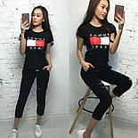 Женский стильный костюм: футболка и укороченные брюки/капри (7 цветов), фото 7