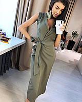 Шикарное женское платье габардин
