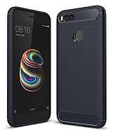 Чехол Carbon для Xiaomi Mi A1 / Mi5x бампер Blue