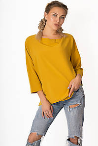 Блузка LiLove р1558 50-52 горчичный
