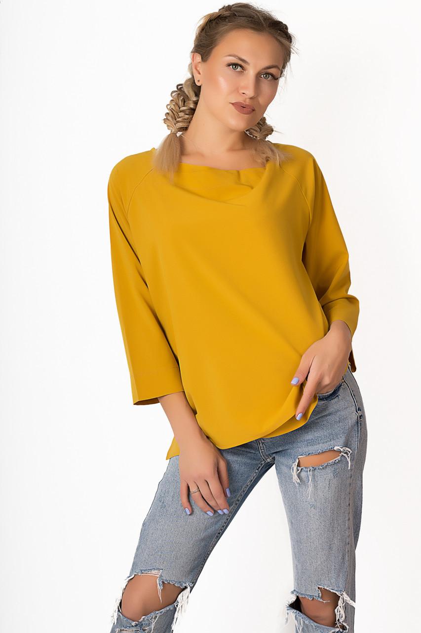 Блузка LiLove р1558 54-56 горчичный