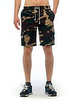 Шорты мужские хаки YSTB Nato Камуфляж с накладными карманами (шорты-карго, рип-стоп, молодежные)