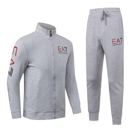 Спортивный костюм EA7 Emporio Armani Athletic Cotton Tracksuit 88277 XXL Серый (88277)
