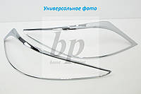 Хром накладки на стопы (задние фары) Mercedes-benz Sprinter (w906) (мерседес-бенц спринтер) 2006г+