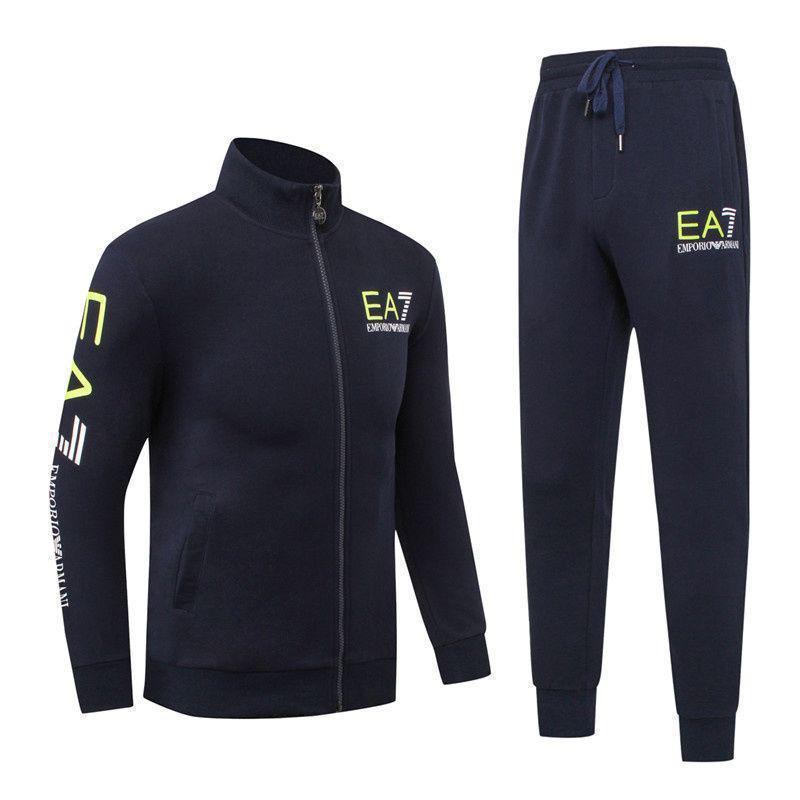 Спортивный костюм EA7 Emporio Armani Athletic Cotton Tracksuit 88279 XXXL Темно-синий (88279)