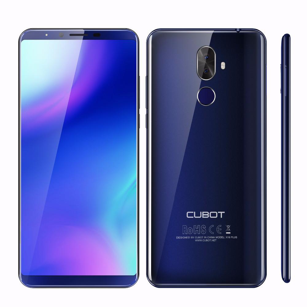 "Смартфон Cubot X18 Plus 4/64Gb Blue, 20+2/13Мп, 5.99"" IPS, 2 sim, 4G(LTE), 4000мАh, GPS, MT6750T, 8 ядер"