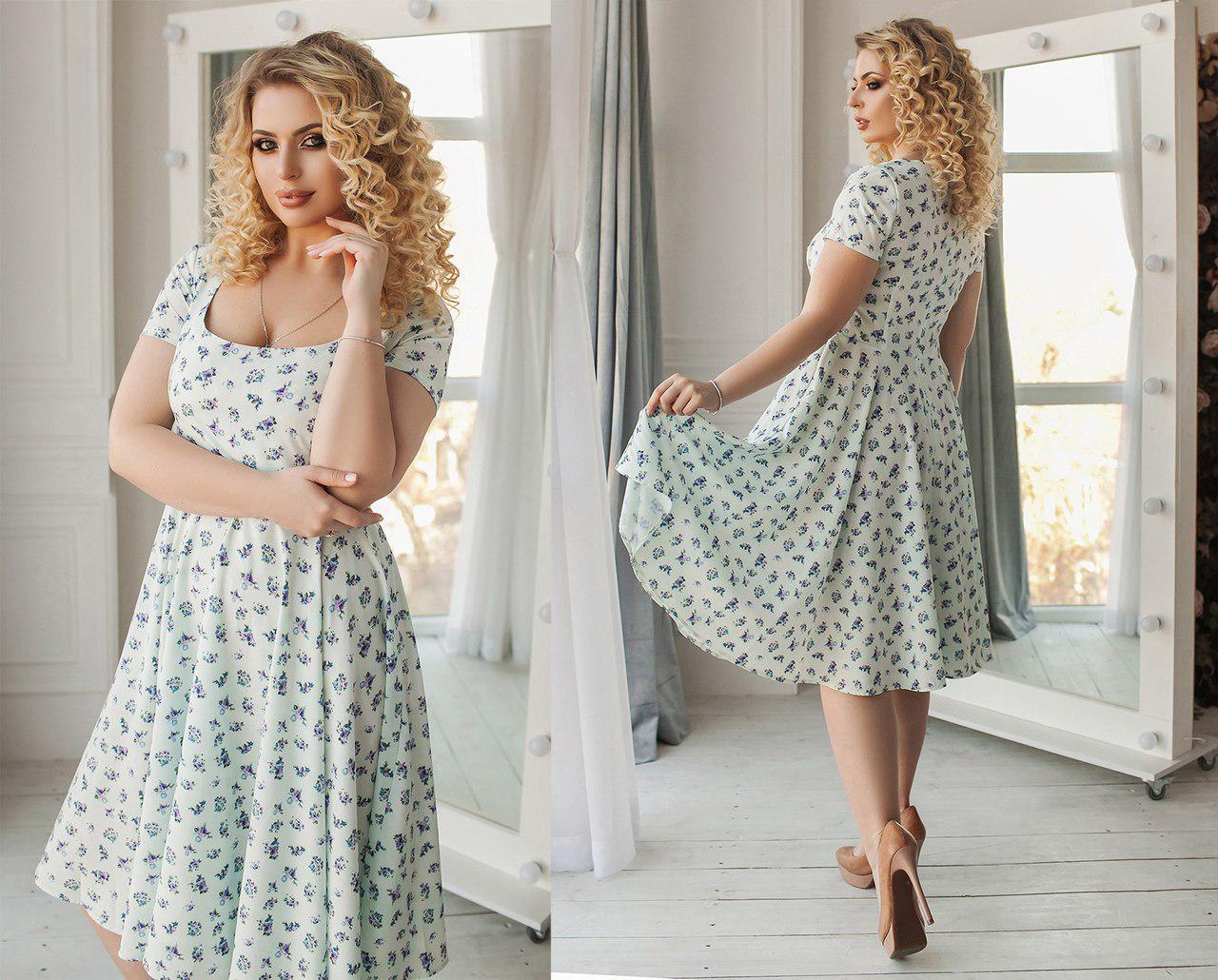 0f91e1e8f9f26dd Платье летнее с легкой длинной юбкой, из ткани софт, три цвета,размеры 42