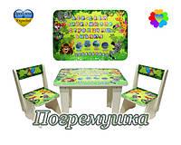 Комплект детской мебели Компашка Джунгли (Стол и два стула)