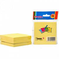 Стикеры для заметок с липким краем, 76 х 76 мм, желтые 3100