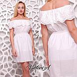 Женское белое платье хлопок с вышивкой, фото 2