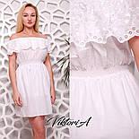 Женское белое платье хлопок с вышивкой, фото 3