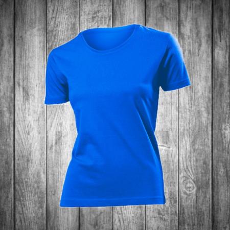 Футболка женская синяя с круглым вырезом Stedman - 00703