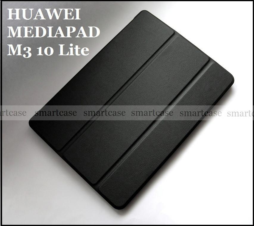Черный ультратонкий чехол книжка Huawei Mediapad M3 10 lite BAH-L09 BAH-W09, модель TFC