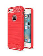 Чехол Carbon для Iphone 5 / 5s Бампер оригинальный Red