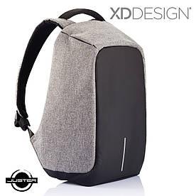 Городской рюкзак Xd Design Bobby Оригинал антивор с кодом от подделок в фирменной коробке (P705.542) серый