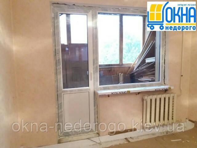 """Металлопластиковый балконный блок – фото работ """"Окна Недорого"""""""