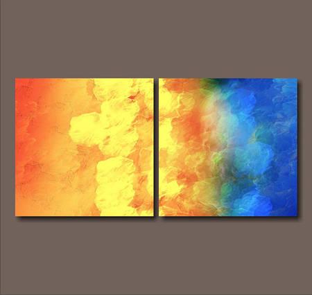 Модульная картина Диптих. Море и солнце (лайт)