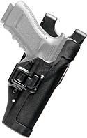 Кобура BLACKHAWK SERPA® Level 2 Auto Lock, поясная, для Glock 17/19/22/23/31/32 полимерная ц:черный