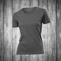 Футболка женская темно серая с круглым вырезом Stedman - Real Grey СТ2600