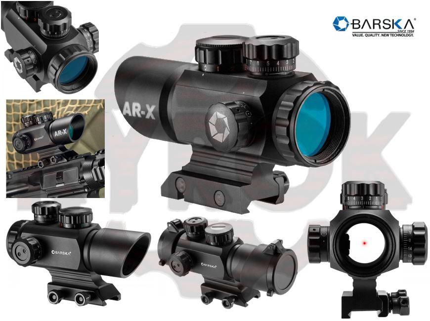Прицел коллиматорный Barska Multi Reticle AR-X 1x35 (Picatinny)